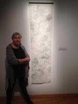 Élisabeth Dupond et son oeuvre Jeu 7 (détail), 2017, frottage, graphite sur papier.