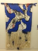 Michel Beaucage, Imagine II/diptyque, 2017, artefact du rideau de la célèbre chambre de John Lenon et Yoko Ono, 12 000 $.