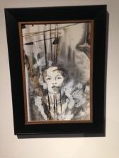 Mairan Snow, Face to Face, 2015, crayon graphite, fusain, peinture sur papier, 750 $(encadré).