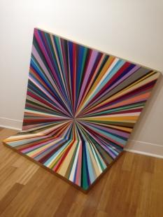 Gibbe Rounsavall, oeuvre présentée lors de l'exposition inaugurale., Portal, Émail sur bois, 7000 $.