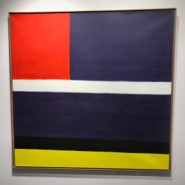 Claude Tousignant, Horizontales au carreau rouge, 1961, acrylique sur toile, estimation : 80 000 à 120 000 $.